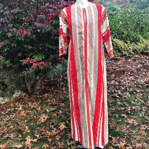Vintage 1970's house dress retro saks fifth ave